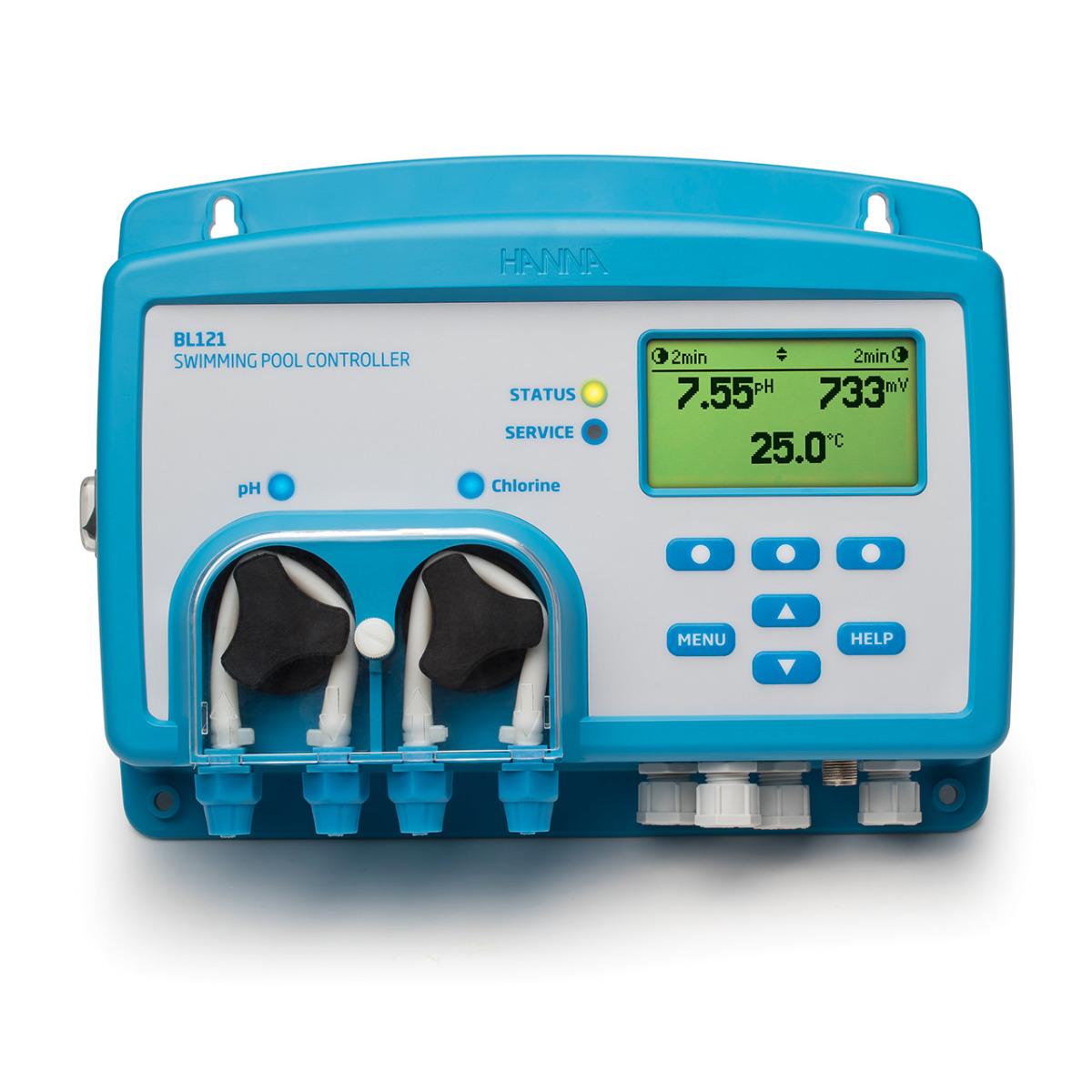 Regolatore automatico di pH/Redox-Cloro/Temperatura per piscine