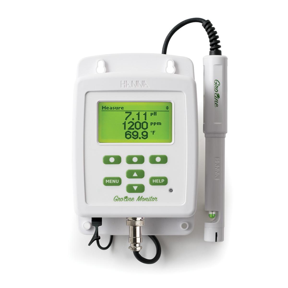 GroLine Monitor – Indicatore combinato pH, EC, Temp per agricoltura - HI981420