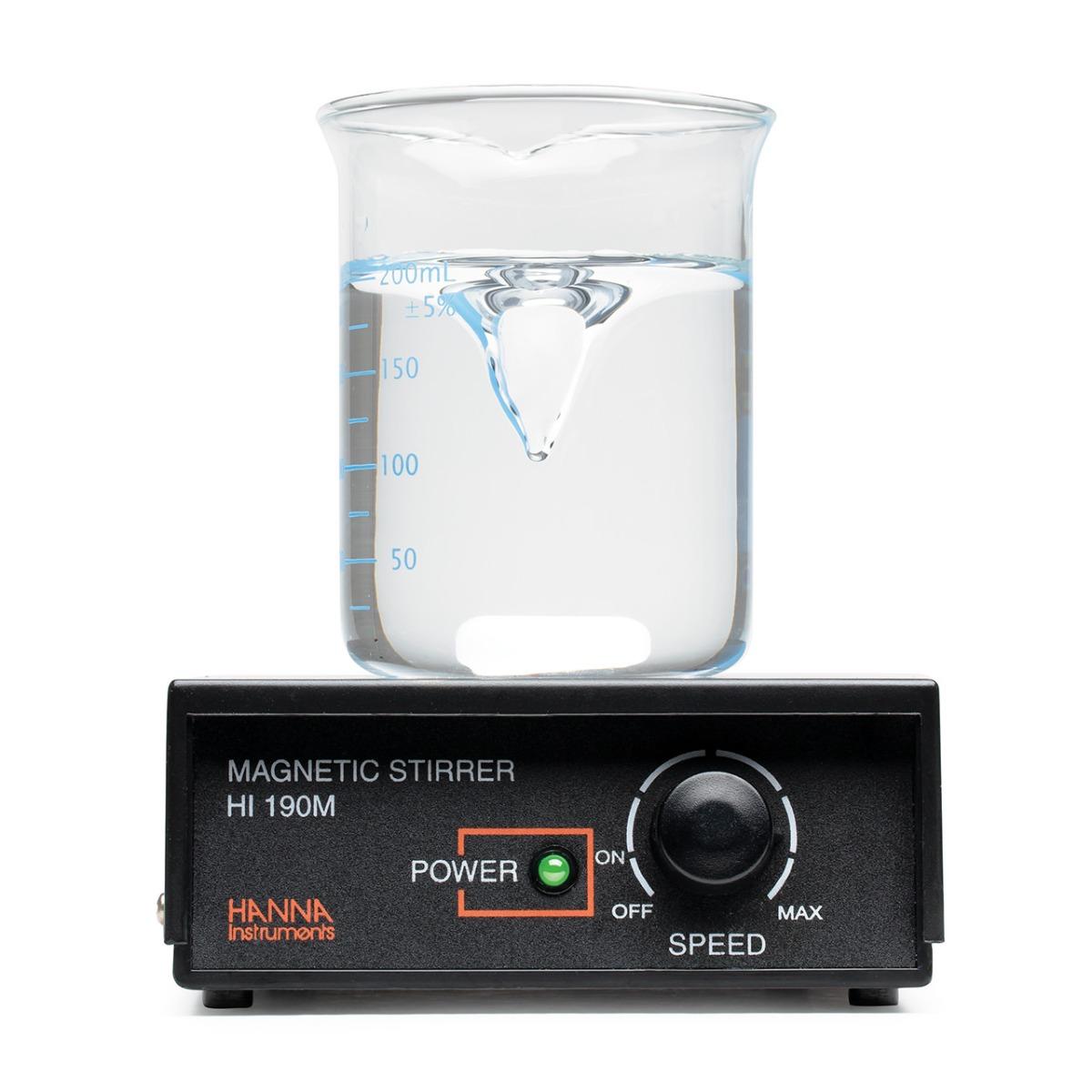 Agitatore magnetico, regolazione velocità fino a 1000 rpm, superficie in plastica, 230 Vac