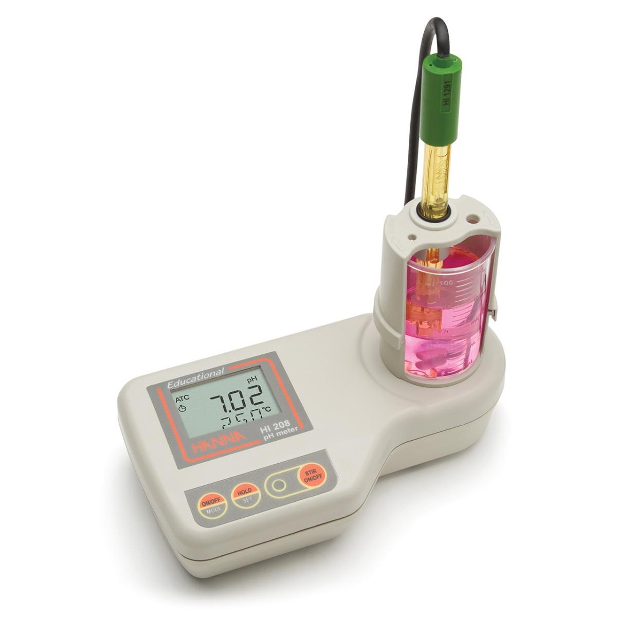 HI208 - pHmetro per uso didattico con agitatore magnetico incorporato