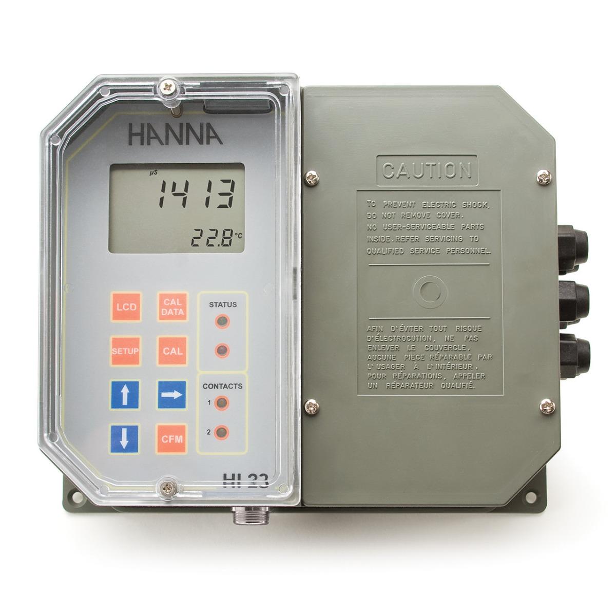 HI23211-2 Regolatore di conducibilità da parete, punto di set doppio, controllo ON/OFF, uscita analogica, 230 Vac
