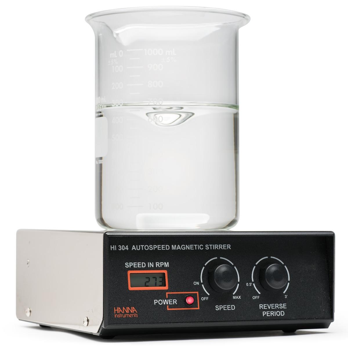 Agitatore magnetico con corpo in acciaio, sistema Speedsafe, tachimetro e rotazione bidirezionale, 230 Vac