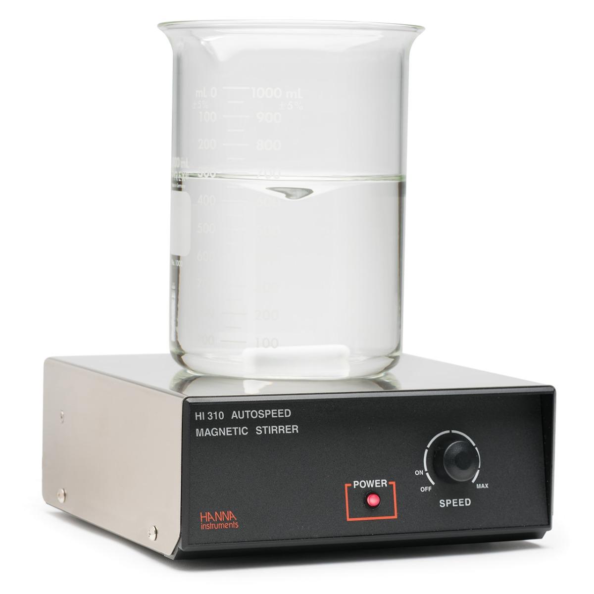 Agitatore magnetico, autocontrollo velocità 200-1000 rpm, per contenitori con volume fino a 5 litri, 230 Vac