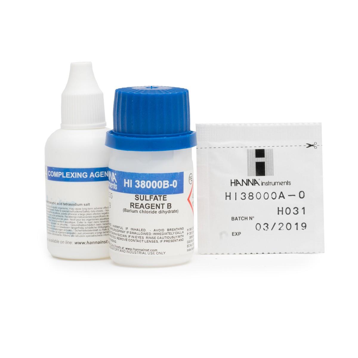 Reagenti di ricambio per test kit solfati (100 analisi) - HI38000-10