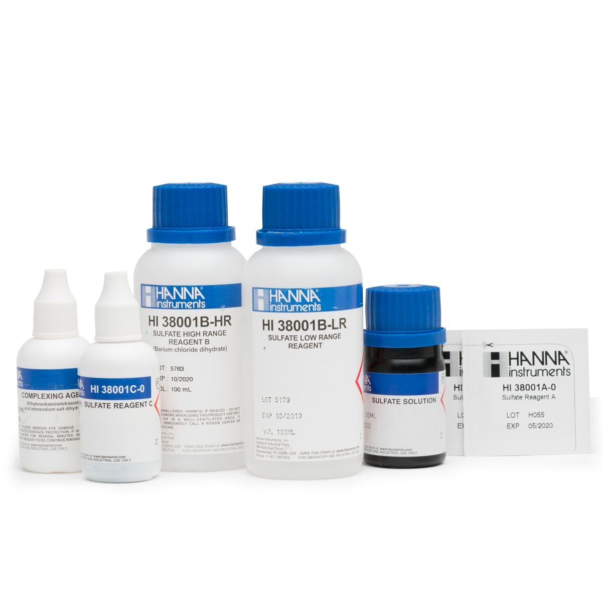 Reagenti di ricambio per test kit solfati (scala bassa e scala alta) - HI38001-10