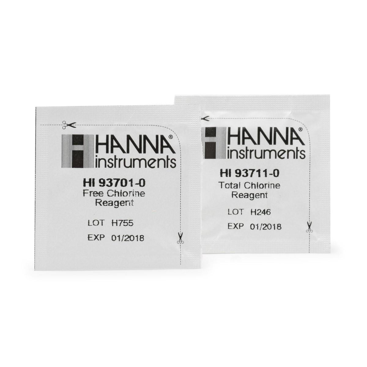Reagenti di ricambio per test kit cloro libero e totale (scala bassa e scala media) - HI38017-200
