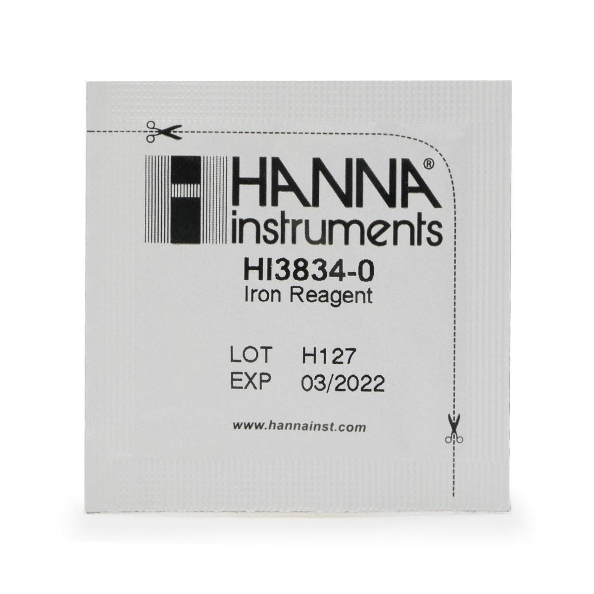 Reagenti di ricambio test kit ferro scala bassa (100 analisi) - HI38039-100