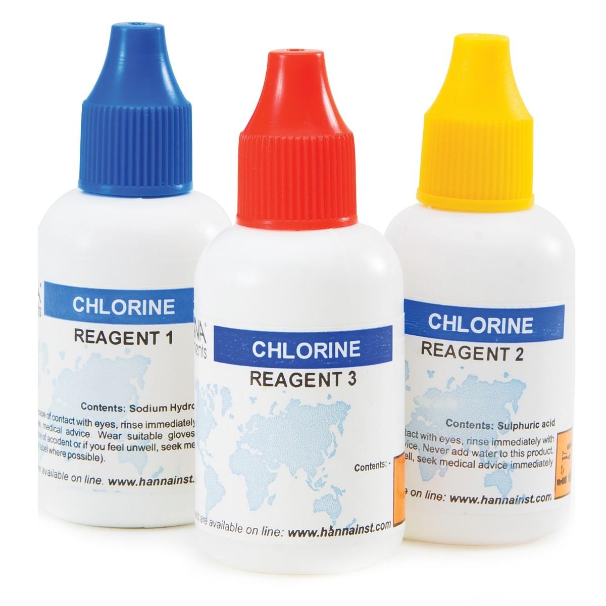 Reagenti di ricambio per test kit cloro totale (50 analisi) - HI3831T-050