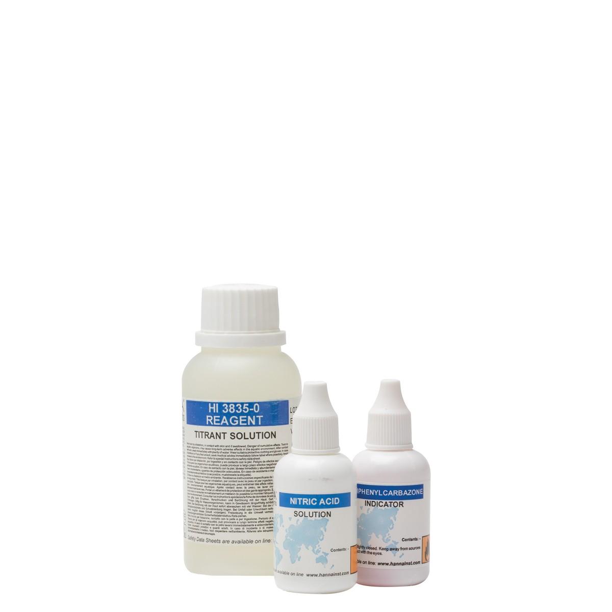 Reagenti di ricambio per test kit salinità (110 analisi) - HI3835-100