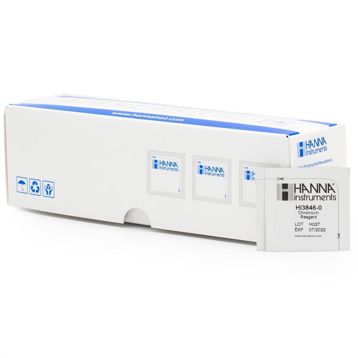Reagenti di ricambio per test kit cromo (100 analisi) - HI3846-100