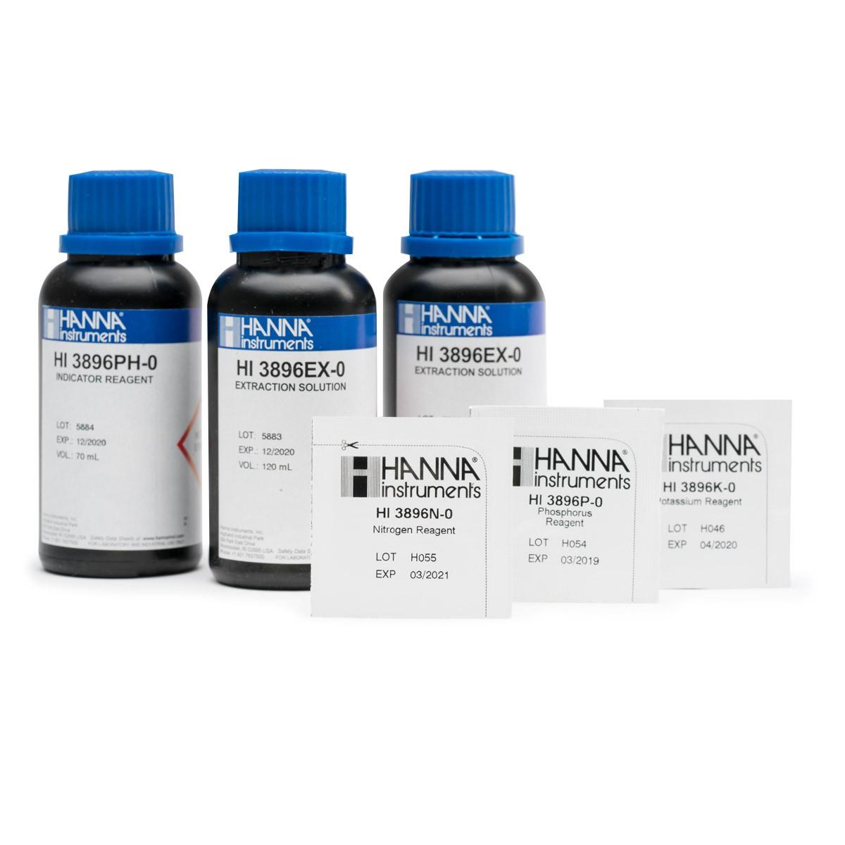 Reagenti di ricambio per test kit analisi del suolo (25 analisi per ogni parametro) - HI3896-025