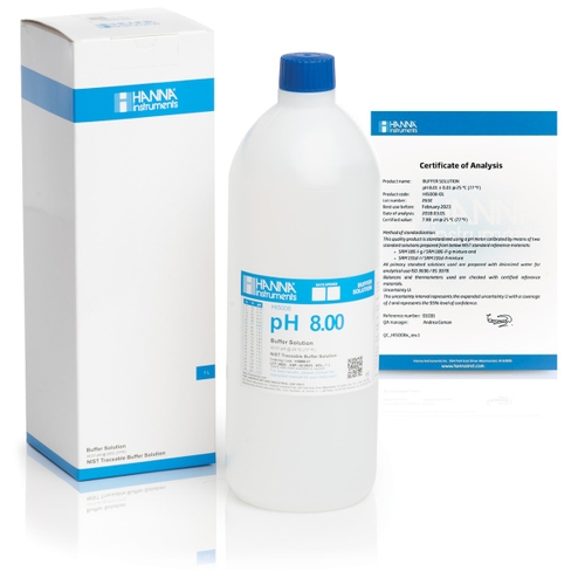 HI5008-01 pH 8.00 Technical Calibration Buffer (1 L)