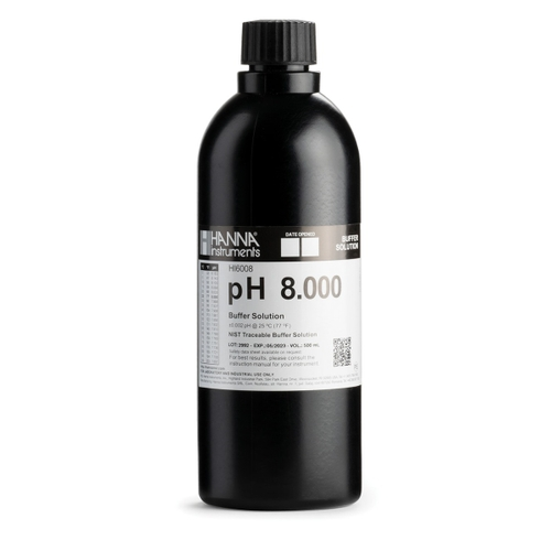 HI6008 pH 8.000 Millesimal Calibration Buffer (500 mL)