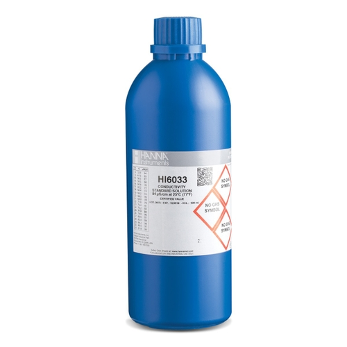 HI6033 84 µS/cm EC (500 mL) bottle with certificate