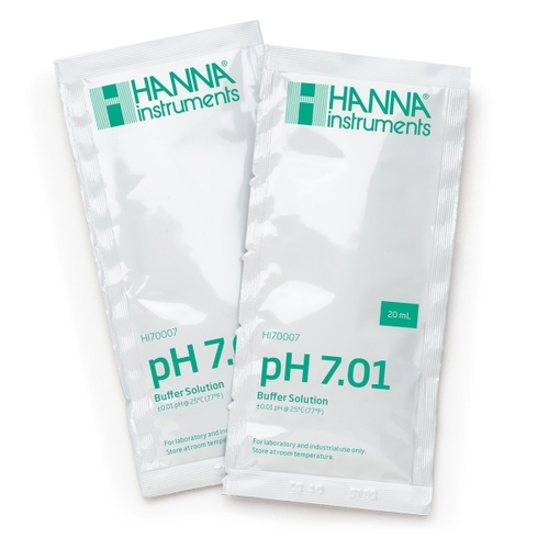 HI70007P pH 7.01 Calibration Buffer Sachets (25 x 20 mL)