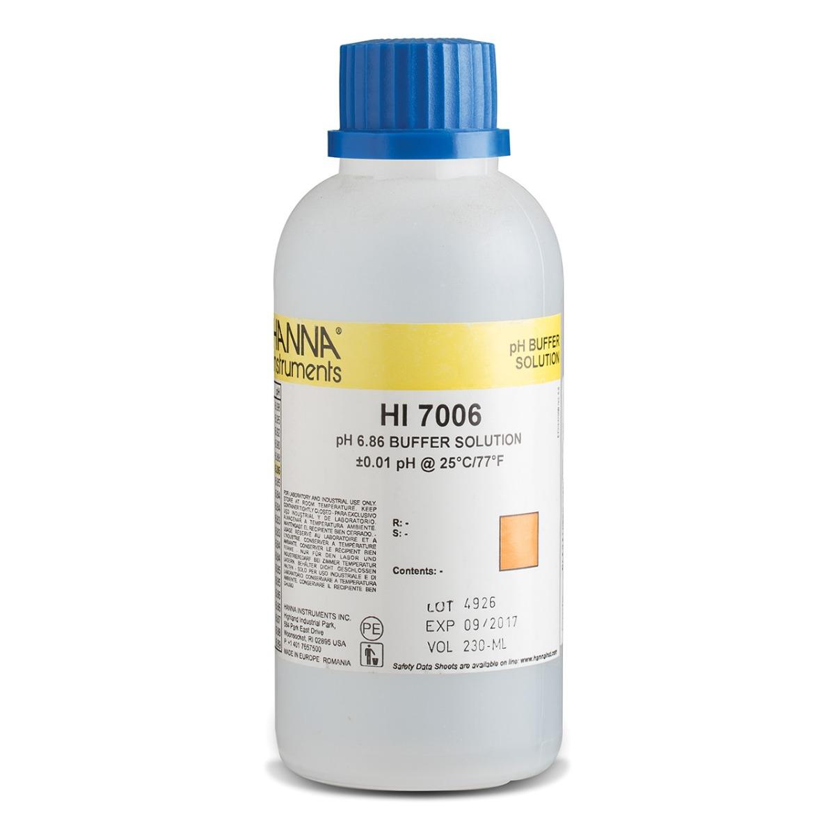 HI7006M pH 6.86 Calibration Solution (230 mL)