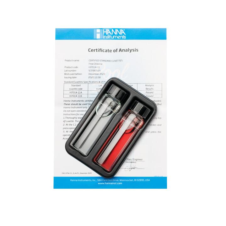 Pool Line Free Chlorine Checker HC Calibration Check Set - HI7014-11