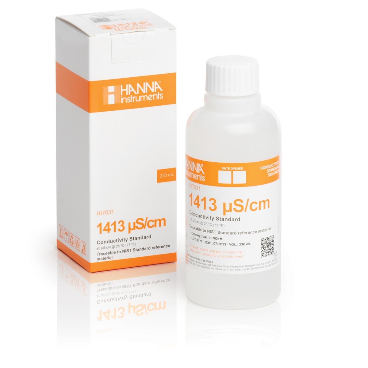 HI7031M 1413 µS/cm Conductivity Standard (230mL Bottle)