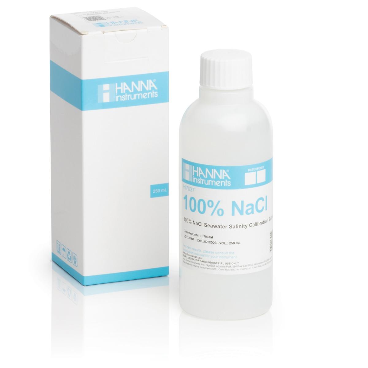 HI7037M Calibration solution for % Readings (100% NaCl) (230 mL) bottle