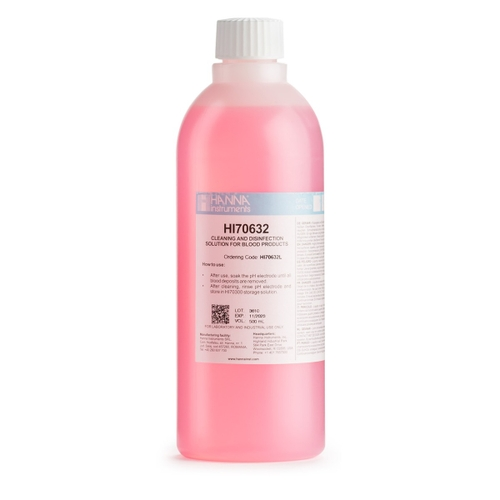 HI70632L Cleaning & Disinfection Solution for Blood Products (500 mL)