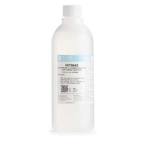 HI70642L Cleaning Solution for Cheese Deposits (500 mL)