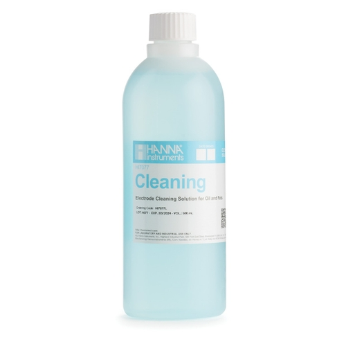 HI7077L Electrode Cleaning Solution for Oil and Fats (500 mL)