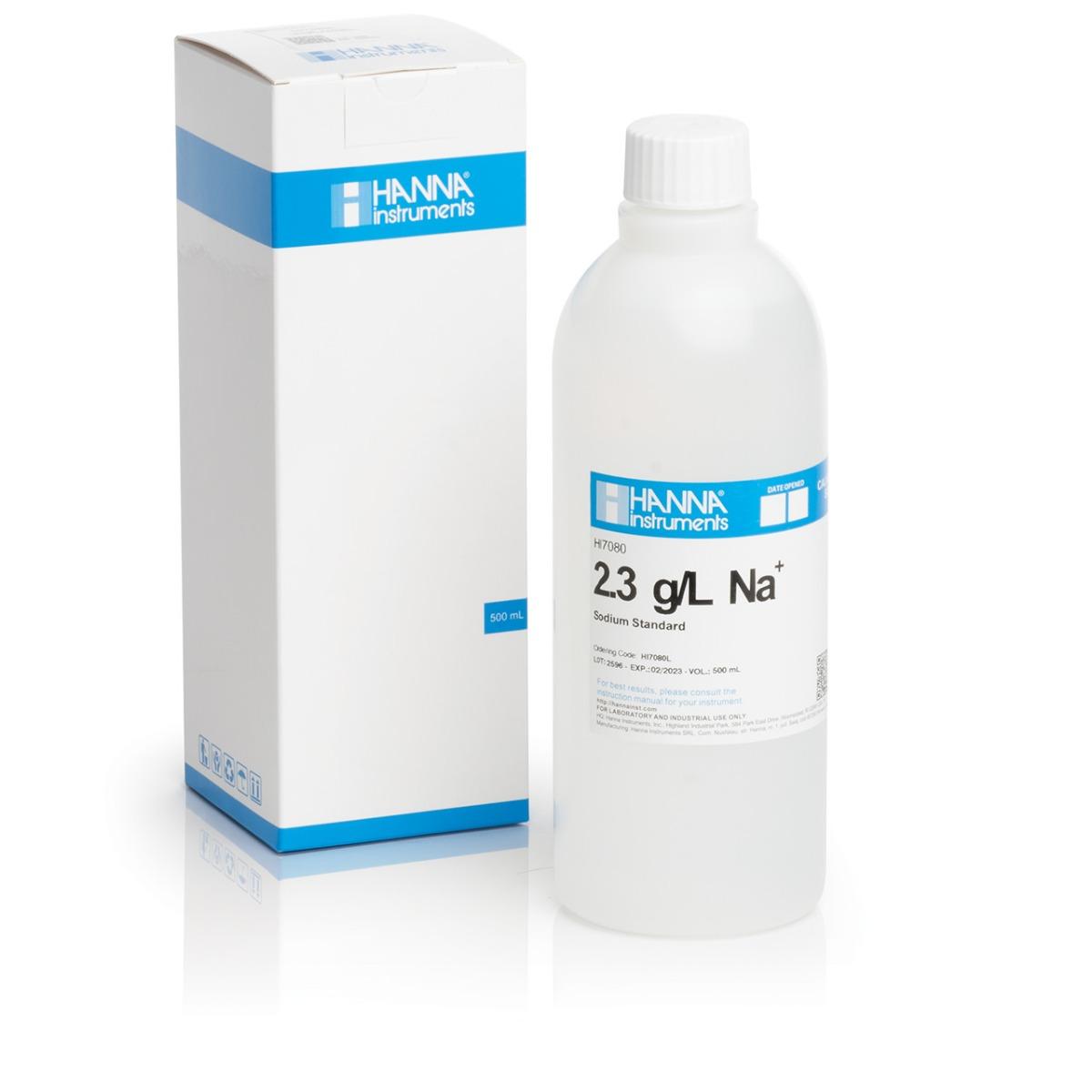 Soluzione standard sodio 2.3 g/L, 500 mL - HI7080L