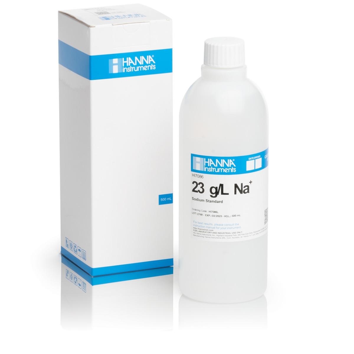HI7086L Standard Solution at 23 g/L Na+ (500 mL) bottle