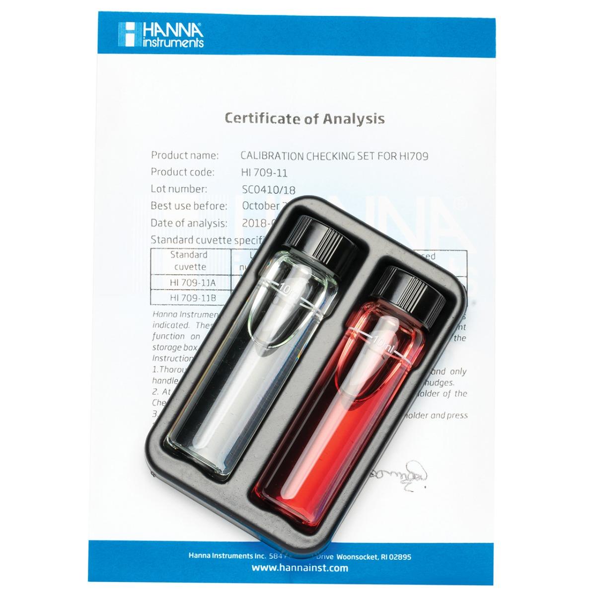 HI709-11 Cuvette standard di calibrazione per Checker HC® Manganese Scala Alta