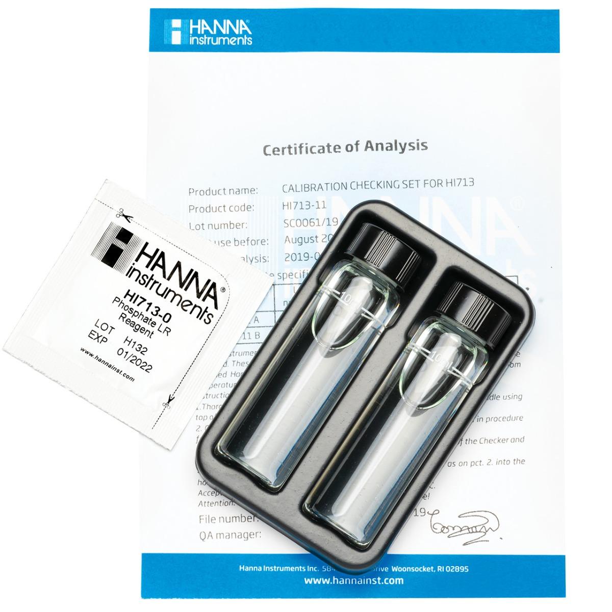 HI713-11 Cuvette standard di calibrazione per Checker HC® Fosfati Scala Bassa
