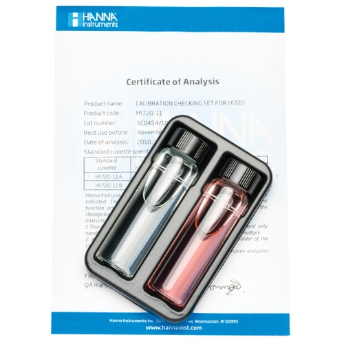 HI720-11 Cuvette standard di calibrazione per Checker HC® Durezza Calcica