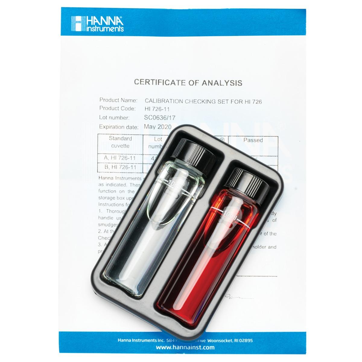 HI726-11 Cuvette standard di calibrazione per Checker HC® Nichel Scala Alta