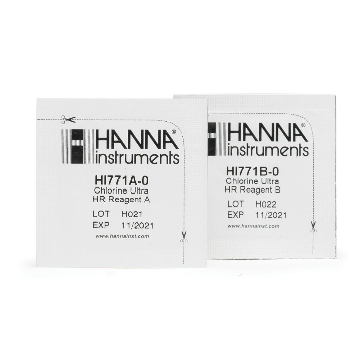 HI771-25 Reagenti per Cloro Totale Scala Ultra Alta