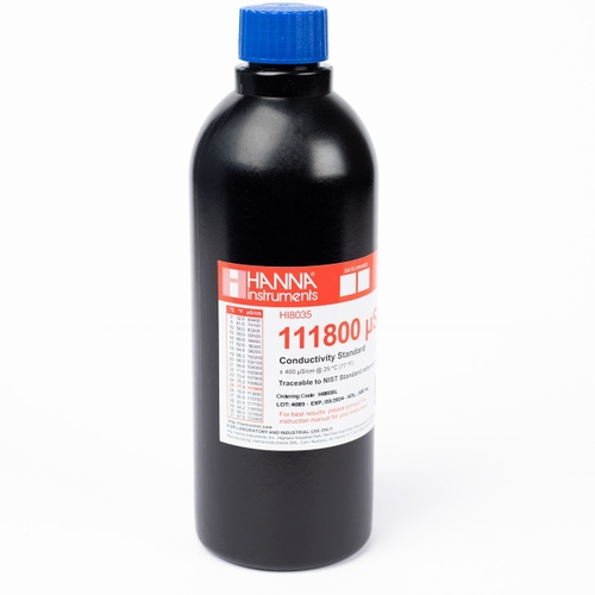 HI8035L 111800 µS/cm Conductivity Standard in FDA Bottle (500mL)