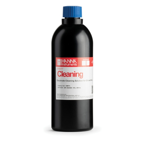 HI8077L Cleaning Solution for Oil and Fats in FDA Bottle (500 mL)