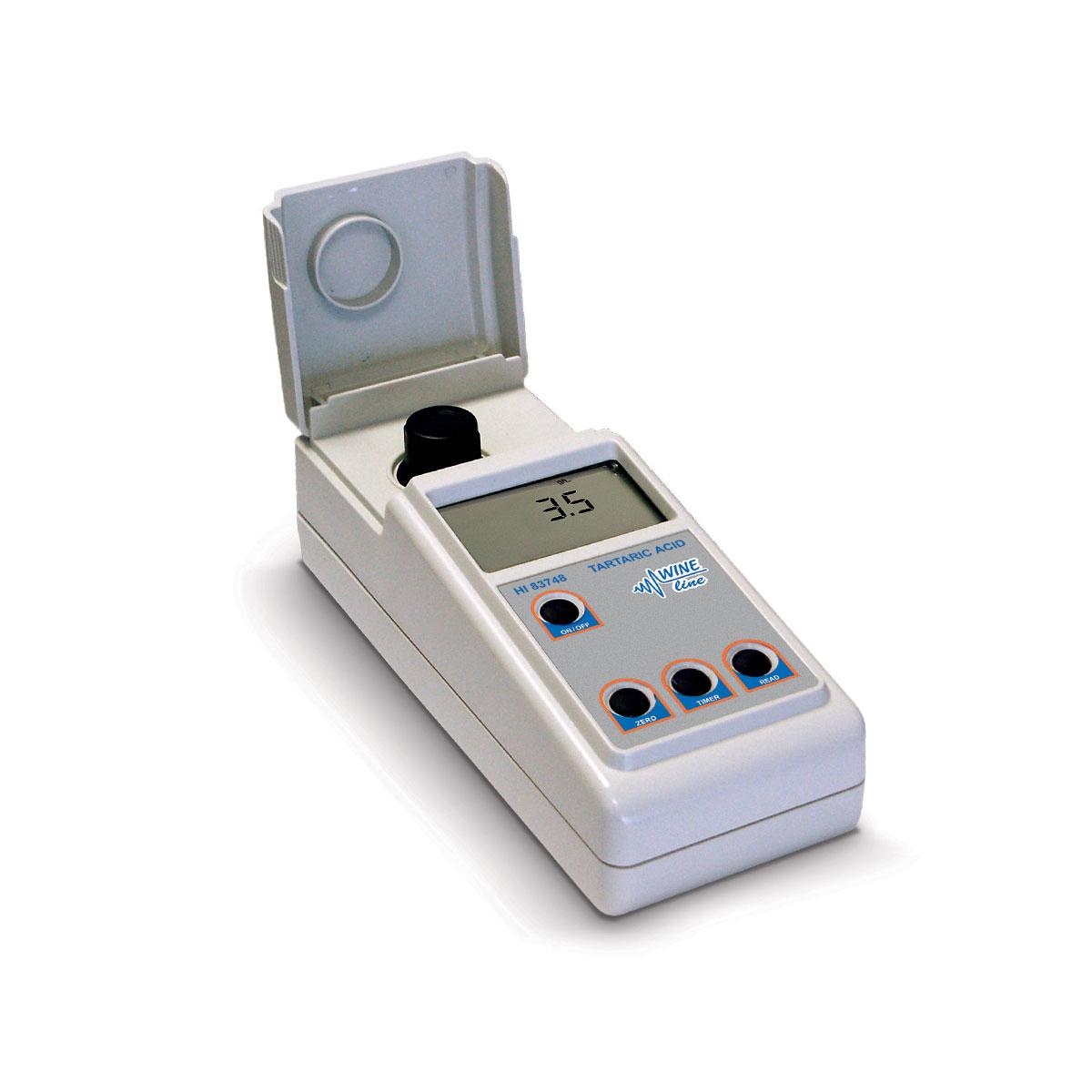 HI83748 - Fotometro per la determinazione dell'acido tartarico nel vino completo di accessori e valigetta rigida