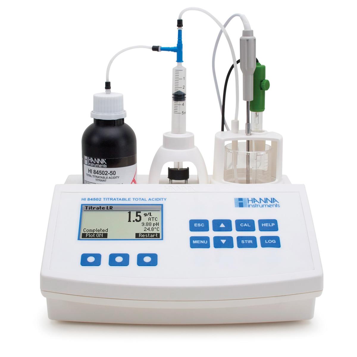 HI84502 - Minititolatore per l'analisi dell'acidità totale nel vino