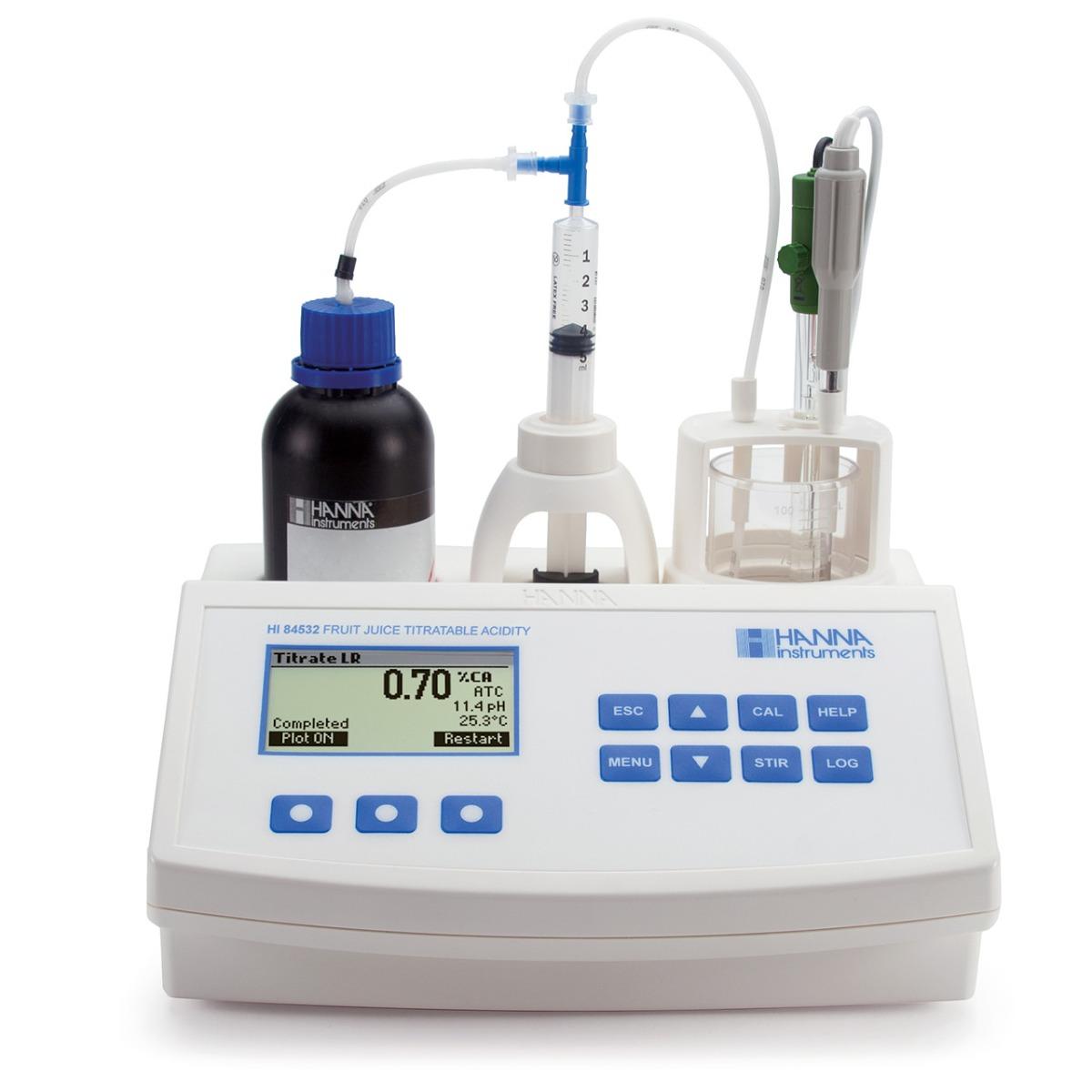 HI84532 - Minititolatore per l'analisi dell'acidità titolabile nei succhi di frutta