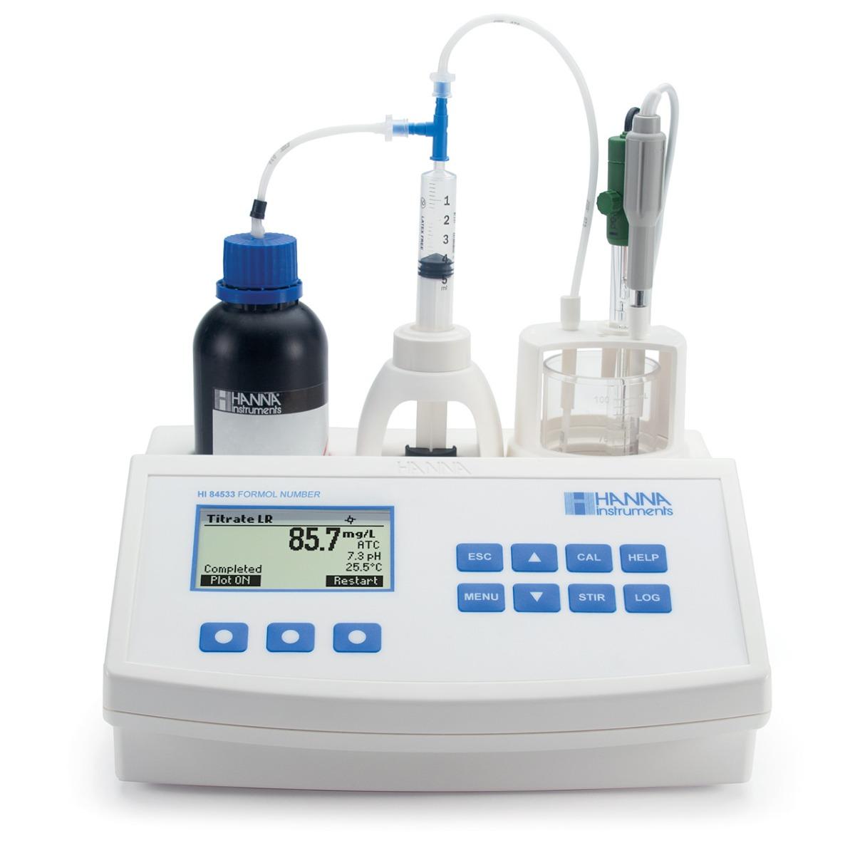 HI84533 - Mini-titolatore per l'analisi del Numero di Formolo e del pH nel vino