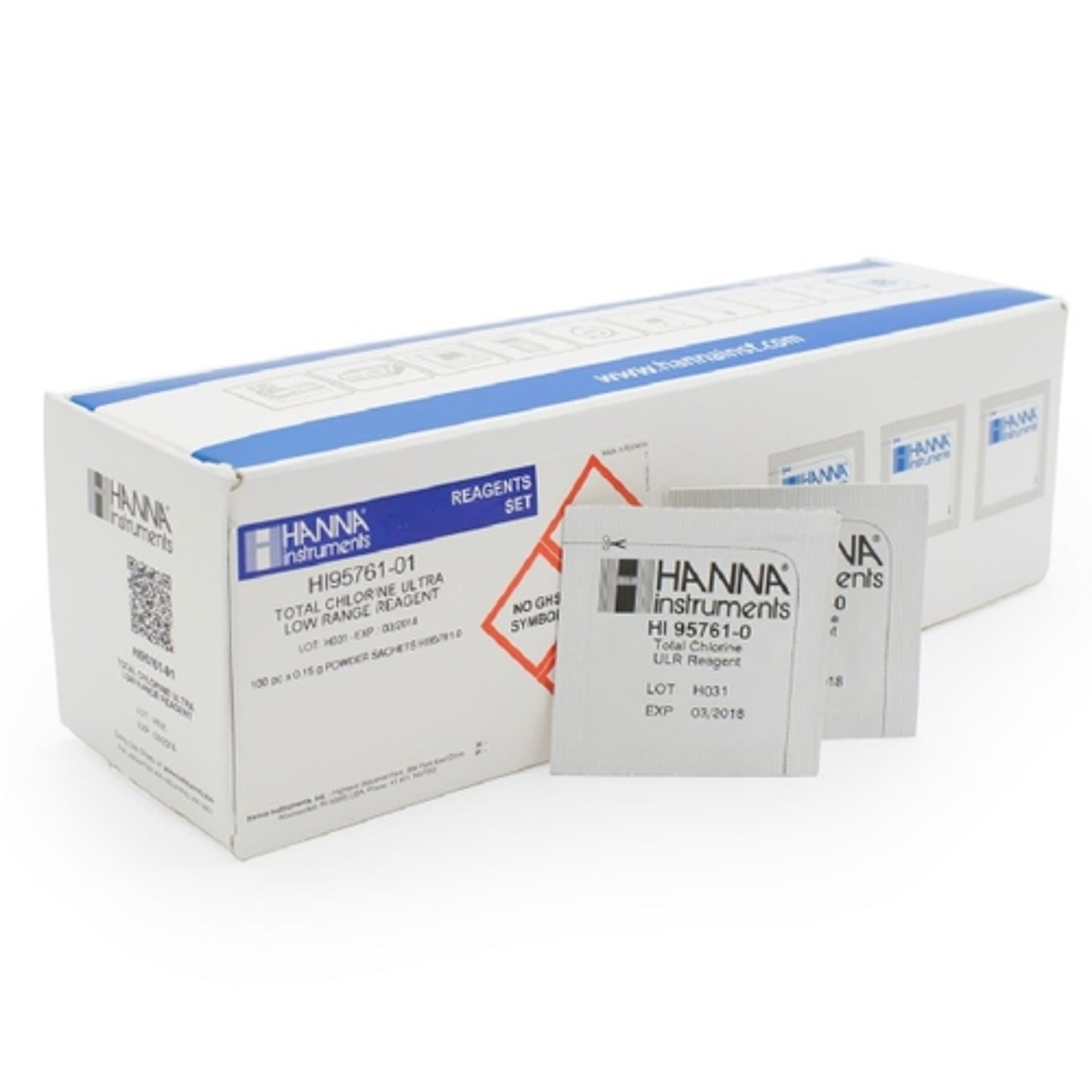 Reagenti cloro totale scala ultra bassa (100 analisi) - HI95761-01