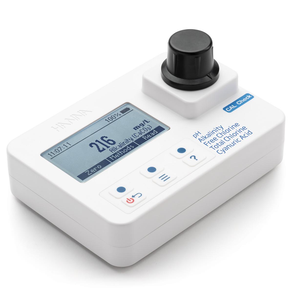 Fotometro piscina pH Cloro Alcalinità Acido Cianurico HI97104