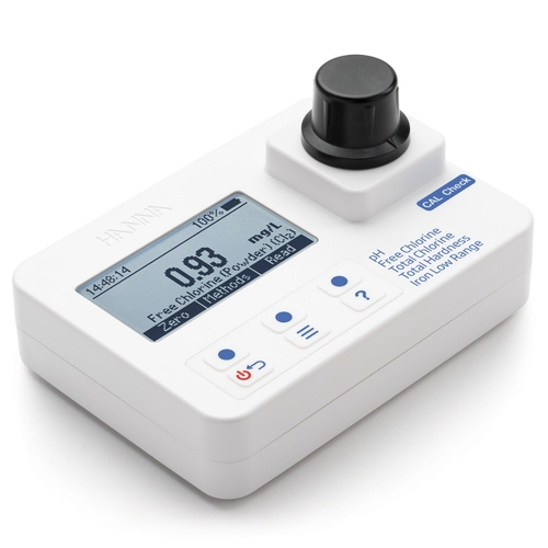 HI97745 pH, Free and Total  Chlorine, Total Hardness, and Iron Low-Range Portable Photometer