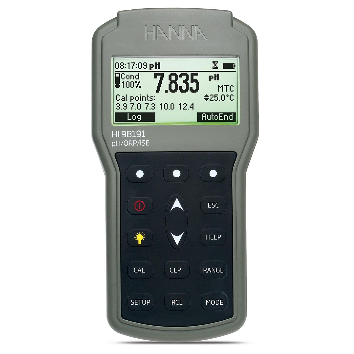 Misuratore portatile di pH/ORP/ISE a tenuta stagna - HI98191