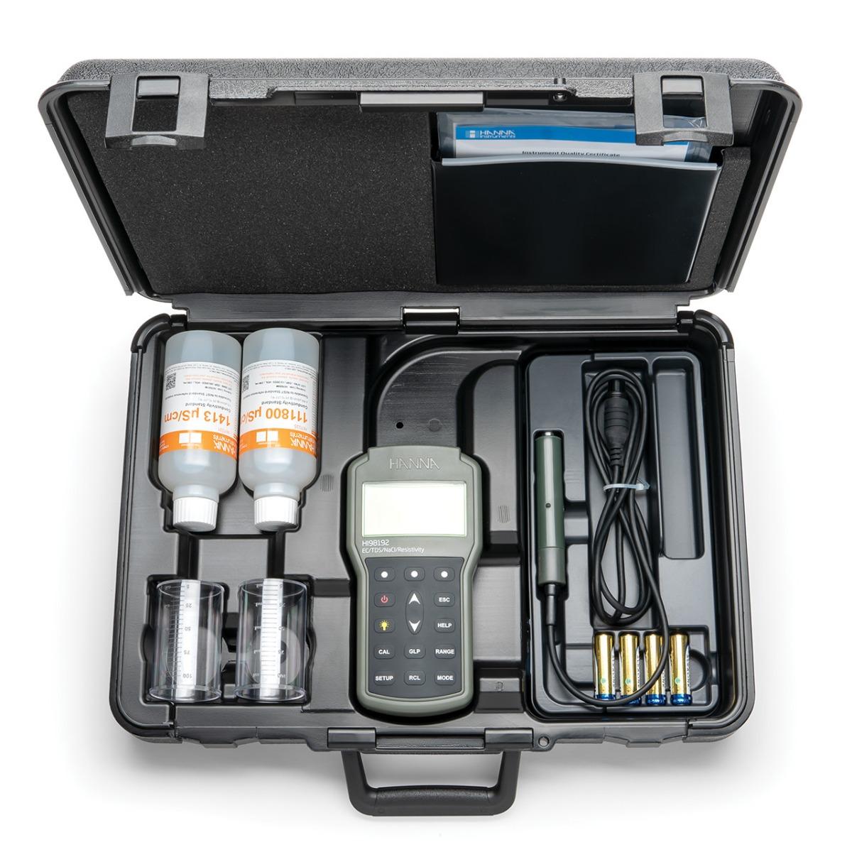 HI98192 - Misuratore portatile di EC/TDS/Resistività/Salinità/Temperatura