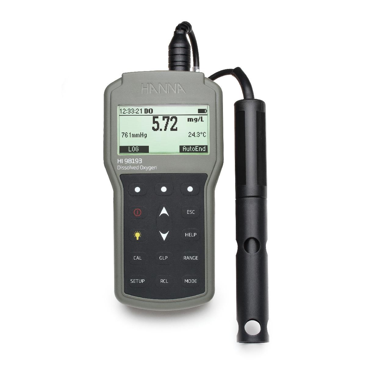 HI98193 - Misuratore portatile di ossigeno disciolto / BOD / OUR / SOUR a tenuta stagna