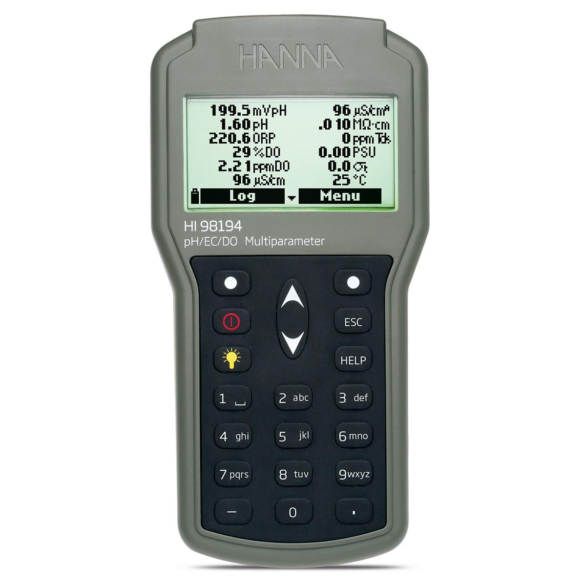 Misuratore multiparametro di pH/ORP/EC/TDS/Salinità/DO/Pressione/Temperatura a tenuta stagna - HI98194