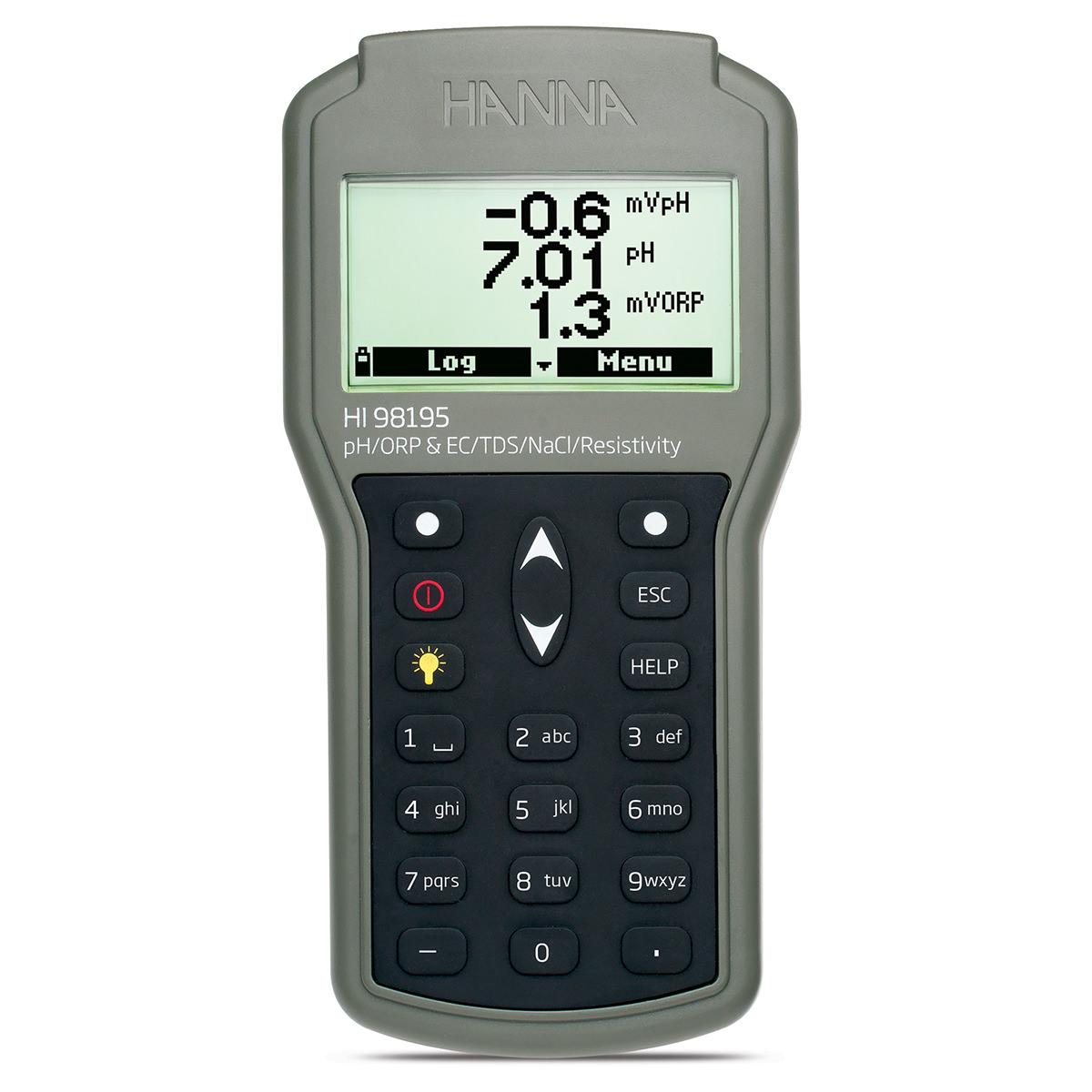 Misuratore multiparametro di pH/ORP/EC/Pressione/Temperatura a tenuta stagna - HI98195