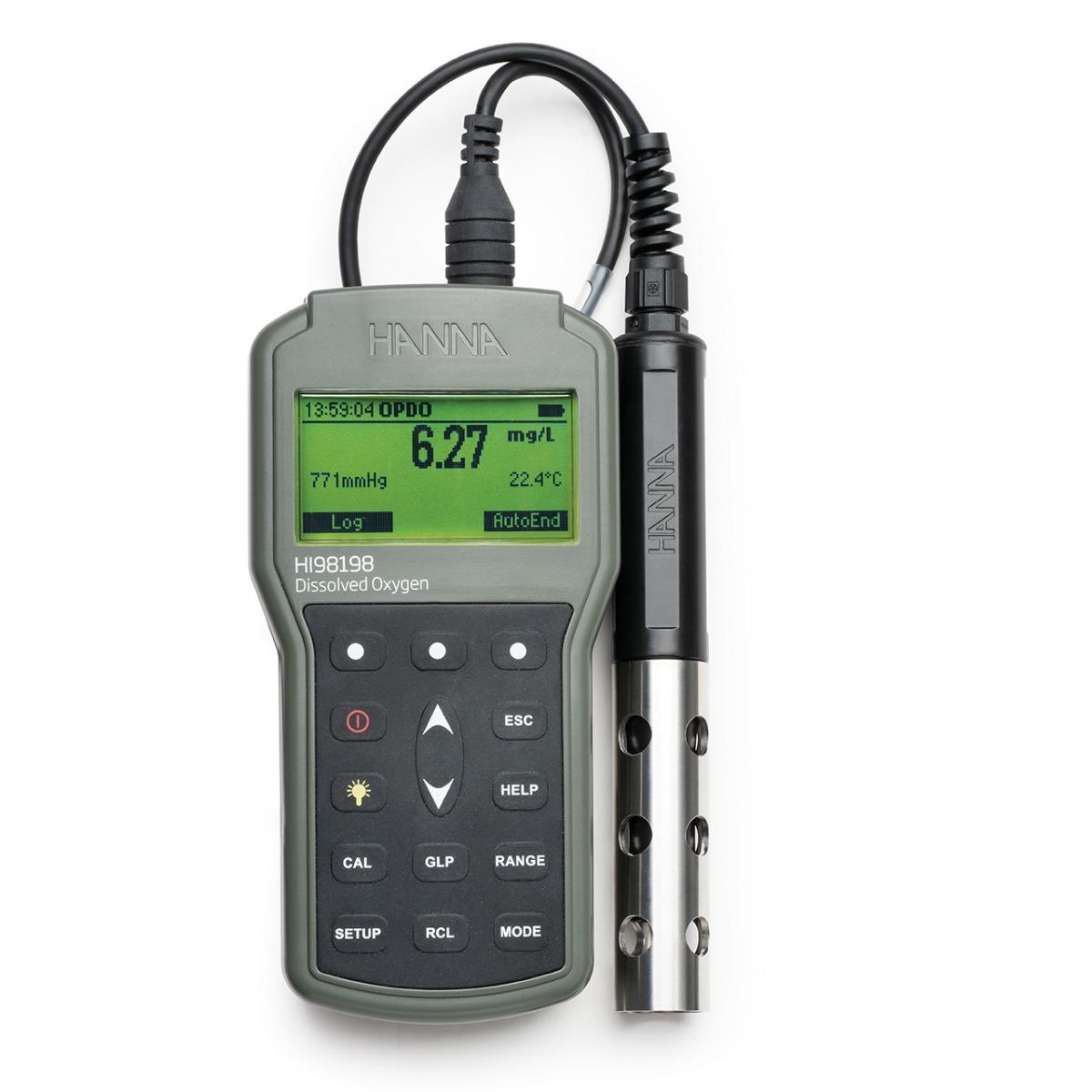 HI98198 - opdo Ossimetro con sensore ottico LDO (luminescenza)