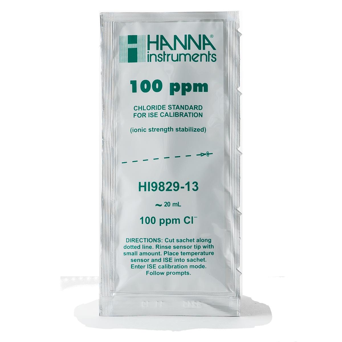 Soluzione standard 100 ppm cloruri in bustina per HI9829 (25 x 25 mL) - HI9829-13