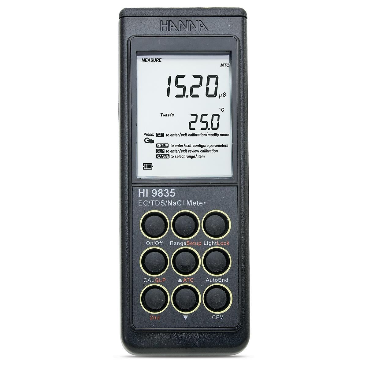 HI9835 - Misuratore portatile di EC/TDS/NaCl/°C